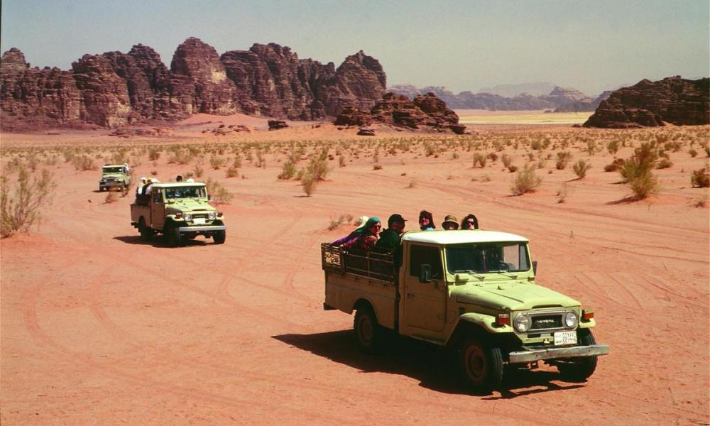 Desert landscpae in Wadi Rum