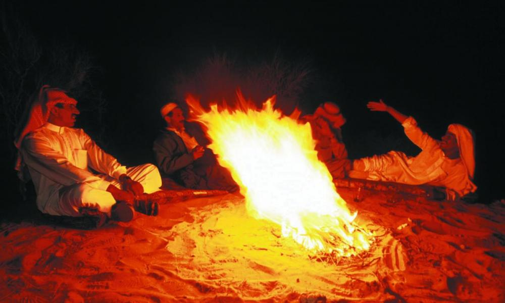 Campfire in Wadi Rum
